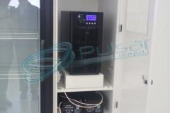 Для резервного электропитания оборудования лаборатории по производству биотоплива.
