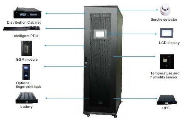 Smart IT-Cabin с сетчатой дверью для естественной вентиляции